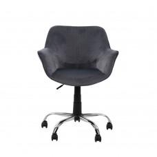 Καρέκλα Γραφείου Γκρι Βελούδο Forminx Liberta 65x65x77-86υψ 25-0498