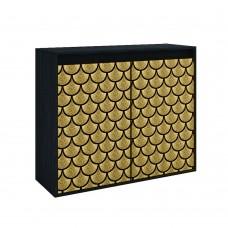 Κομότα - Παπουτσοθήκη 2 Πόρτες Black Oak Goldfish Liberta 101,2x40x84υψ 05-0455