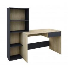 Γραφείο - Βιβλιοθήκη Sonoma - Γκρι Σκούρο Twingo Liberta 160x60x145υψ 24-0471