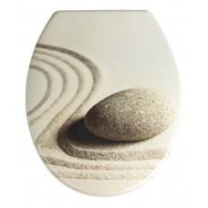 Καπάκι Τουαλέτας Duroplast Sand Stone Wenko 38x45εκ