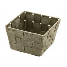 Καλαθάκι Τετράγωνο Μίνι Taupe Adria Wenko 14x14x9υψ