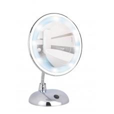 Καθρέφτης Επιτραπέζιος Μεγεθυντικός Χρωμίου Με Led Style Wenko Φ17εκ