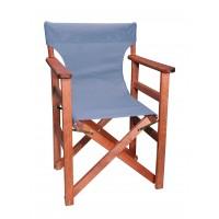 Πολυθρόνα - Καρέκλα Σκηνοθέτη Φουρνιστή Οξιά Πτυσσόμενη Κερασί Χρώμα Ανοιχτό Γκρι Διάτρητο Pvc 57x52x86υψ Κατ' Εξοχήν 77012
