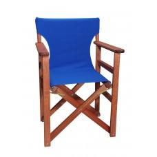Πολυθρόνα - Καρέκλα Σκηνοθέτη Φουρνιστή Οξιά Πτυσσόμενη Κερασί Χρώμα Μπλε Καραβόπανο 57x52x86υψ Κατ' Εξοχήν 77011