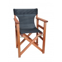 Πολυθρόνα - Καρέκλα Σκηνοθέτη Φουρνιστή Οξιά Πτυσσόμενη Κερασί Χρώμα Μαύρο Διάτρητο Pvc 57x52x86υψ Κατ' Εξοχήν 77012