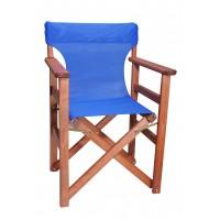 Πολυθρόνα - Καρέκλα Σκηνοθέτη Φουρνιστή Οξιά Πτυσσόμενη Κερασί Χρώμα Μπλε Διάτρητο Pvc 57x52x86υψ Κατ' Εξοχήν 77012