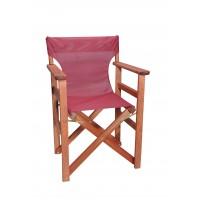 Πολυθρόνα - Καρέκλα Σκηνοθέτη Φουρνιστή Οξιά Πτυσσόμενη Κερασί Χρώμα Μπορντώ Διάτρητο Pvc 57x52x86υψ Κατ' Εξοχήν 77012