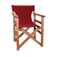 Πολυθρόνα - Καρέκλα Σκηνοθέτη Φουρνιστή Οξιά Πτυσσόμενη Κερασί Χρώμα Μπορντώ Καραβόπανο 57x52x86υψ Κατ' Εξοχήν 77011