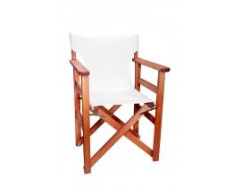 Πολυθρόνα - Καρέκλα Σκηνοθέτη Φουρνιστή Οξιά Πτυσσόμενη Κερασί Χρώμα Εκρού Καραβόπανο 57x52x86υψ Κατ' Εξοχήν 77011