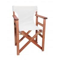 Πολυθρόνα - Καρέκλα Σκηνοθέτη Φουρνιστή Οξιά Πτυσσόμενη Κερασί Χρώμα Εκρού Διάτρητο Pvc 57x52x86υψ Κατ' Εξοχήν 77012
