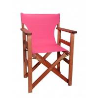 Πολυθρόνα - Καρέκλα Σκηνοθέτη Φουρνιστή Οξιά Πτυσσόμενη Κερασί Χρώμα Φούξια Καραβόπανο 57x52x86υψ Κατ' Εξοχήν 77011