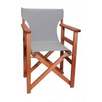 Πολυθρόνα - Καρέκλα Σκηνοθέτη Φουρνιστή Οξιά Πτυσσόμενη Κερασί Χρώμα Γκρι Καραβόπανο 57x52x86υψ Κατ' Εξοχήν 77011