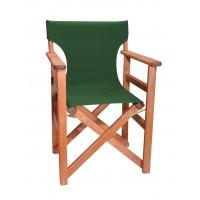 Πολυθρόνα - Καρέκλα Σκηνοθέτη Φουρνιστή Οξιά Πτυσσόμενη Κερασί Χρώμα Κυπαρισσί Καραβόπανο 57x52x86υψ Κατ' Εξοχήν 77011