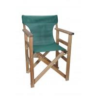 Πολυθρόνα - Καρέκλα Σκηνοθέτη Φουρνιστή Οξιά Πτυσσόμενη Καρυδί Χρώμα Κυπαρισσί Διάτρητο Pvc 57x52x86υψ Κατ' Εξοχήν 77014