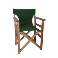 Πολυθρόνα - Καρέκλα Σκηνοθέτη Φουρνιστή Οξιά Πτυσσόμενη Καρυδί Χρώμα Κυπαρισσί Καραβόπανο 57x52x86υψ Κατ' Εξοχήν 77013