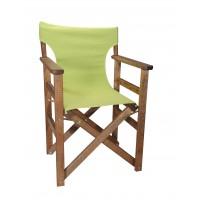 Πολυθρόνα - Καρέκλα Σκηνοθέτη Φουρνιστή Οξιά Πτυσσόμενη Καρυδί Χρώμα Λαχανί Καραβόπανο 57x52x86υψ Κατ' Εξοχήν 77013