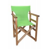 Πολυθρόνα - Καρέκλα Σκηνοθέτη Φουρνιστή Οξιά Πτυσσόμενη Καρυδί Χρώμα Λαχανί Διάτρητο Pvc 57x52x86υψ Κατ' Εξοχήν 77014