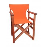Πολυθρόνα - Καρέκλα Σκηνοθέτη Φουρνιστή Οξιά Πτυσσόμενη Κερασί Χρώμα Πορτοκαλί Καραβόπανο 57x52x86υψ Κατ' Εξοχήν 77011