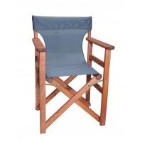Πολυθρόνα - Καρέκλα Σκηνοθέτη Φουρνιστή Οξιά Πτυσσόμενη Κερασί Χρώμα Σκούρο Γκρι Διάτρητο Pvc 57x52x86υψ Κατ' Εξοχήν 77012