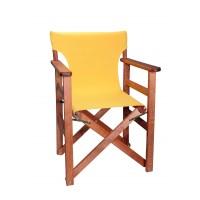 Πολυθρόνα - Καρέκλα Σκηνοθέτη Φουρνιστή Οξιά Πτυσσόμενη Κερασί Χρώμα Κίτρινο Καραβόπανο 57x52x86υψ Κατ' Εξοχήν 77011