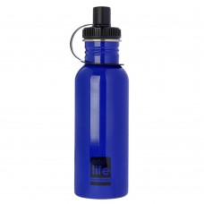 Μπουκάλι Ανοξείδωτο Με Πώμα 600ml Μπλε Ecolife Φ7,5x25υψ 33-BO-1005