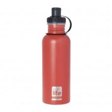 Μπουκάλι Ανοξείδωτο Με Πώμα 600ml Coral Ecolife Φ7,5x25υψ 33-BO-1013