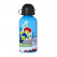 Μπουκάλι Παιδικό Ανοξείδωτο 500ml Super Boy Ecolife Φ7x20υψ 33-BO-2007