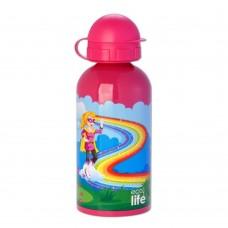 Μπουκάλι Παιδικό Ανοξείδωτο 500ml Super Girl Ecolife Φ7x20υψ 33-BO-2008