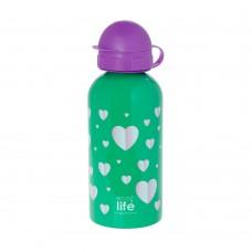 Μπουκάλι Παιδικό Ανοξείδωτο 500ml Hearts Ecolife Φ7x20υψ 33-BO-2011