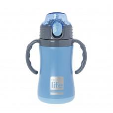 Θερμός Παιδικό Ανοξείδωτο Με Καλαμάκι 300ml Μπλε Ecolife 33-BO-3006