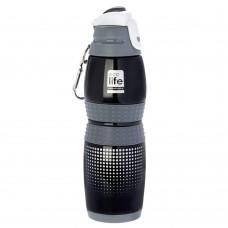 Μπουκάλι Ανοξείδωτο 400ml Vacuum Black Rubber Ecolife 33-BO-3013
