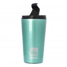 Θερμός Ανοξείδωτο Για Καφέ 370ml Ανοιχτό Μπλε Ecolife Φ8x15υψ 33-BO-4001