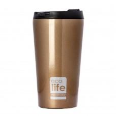 Θερμός Ανοξείδωτο Για Καφέ 370ml Μπρονζέ Ecolife Φ8x15υψ 33-BO-4002