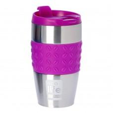 Θερμός Ανοξείδωτο Για Καφέ 400ml Silicon Violet Ecolife 33-BO-4003