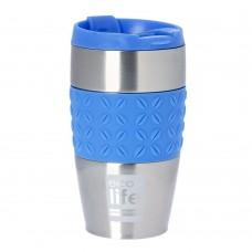 Θερμός Ανοξείδωτο Για Καφέ 400ml Silicon Blue Ecolife 33-BO-4004