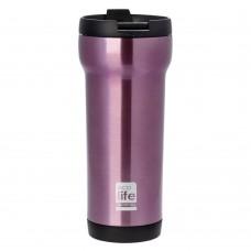 Θερμός Ανοξείδωτο Για Καφέ 420ml Μωβ Ecolife Φ8x20υψ 33-BO-4005