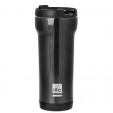 Θερμός Ανοξείδωτο Για Καφέ 420ml Μαύρο Ecolife Φ8x20υψ 33-BO-4006