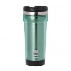 Θερμός Πλαστικό Με Ανοξείδωτη Εσωτερική Επένδυση 420ml Πράσινο Ecolife 33-BO-4007