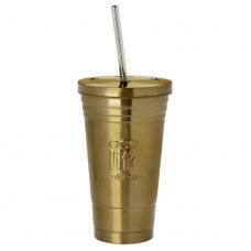 Θερμός Ανοξείδωτο Για Καφέ Με Ανοξείδωτο Καλαμάκι 480ml Μπρονζέ Ecolife Φ10x17υψ 33-BO-4008