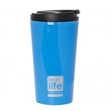 Θερμός Ανοξείδωτο Για Καφέ 370ml Μπλε Ecolife Φ8x15υψ 33-BO-4012