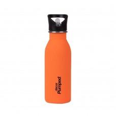Μπουκάλι Ανοξείδωτο Με Καλαμάκι 500ml Πορτοκαλί Decor Ecolife 33-DE-005