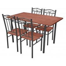 Σετ Τραπέζι Με 4 Καρέκλες 9115-CH 120x70εκ