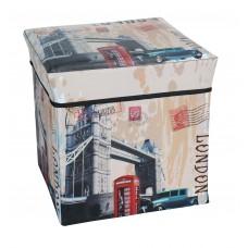 Σκαμπώ Πτυσσόμενο Με Αποθηκευτικό Χώρο  Non-Woven STOOL/06-FLD LONDON 30x30x30υψ
