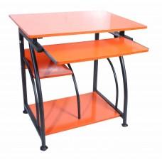 Γραφείο Υπολογιστή Μεταλλικό Με Ξύλο DESK-1223-ORG 70χ50χ72υψ - Πορτοκαλί