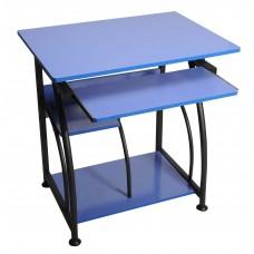 Γραφείο Υπολογιστή Μεταλλικό Με Ξύλο DESK-1222-LBLU  70χ50χ72υψ - Μπλε