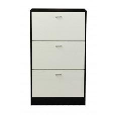 Παπουτσοθήκη Με 3 Ράφια MDF 6022-1/VEGE+WHITE 63x24x115 - Βέγκε Και Άσπρο Χρώμα