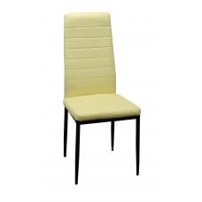 Καρέκλα Κουζινας - Σαλονιού Μπεζ Χρώμα, Με Μεταλλικά Πόδια,  Chair-Bg-4  40x41x97υψ.