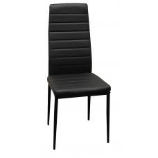 Καρέκλα Κουζινας - Σαλονιού Μαύρο Χρώμα, Με Μεταλλικά Πόδια,  Chair-Blk-4  40x41x97υψ.