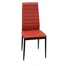 Καρέκλα Κουζινας - Σαλονιού Μπορντώ Χρώμα, Με Μεταλλικά Πόδια,  Chair-Bur-4  40x41x97υψ.
