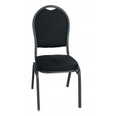 Μεταλλική Καρέκλα Γκρι Σκελετός Μαύρο Κάθισμα Και Πλάτη CHR-JDY-002/GRY+BLK 42x44x93